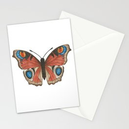 Peacock Butterfly Illustration Stationery Cards