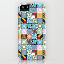Mixed Arabic Tiles Pattern - Oriental iPhone Case
