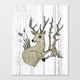 Woodland Deer Canvas Print