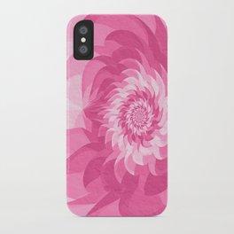 Fuchsia pink fractal flower iPhone Case