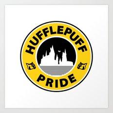 Huffle-Pride Art Print