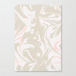 Beige marble pattern Canvas Print