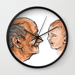 Live Young Wall Clock