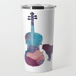 Viola pug art Travel Mug