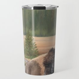 American Bison Painting Travel Mug