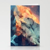 low poly Stationery Cards featuring Mountain low poly by Li9z