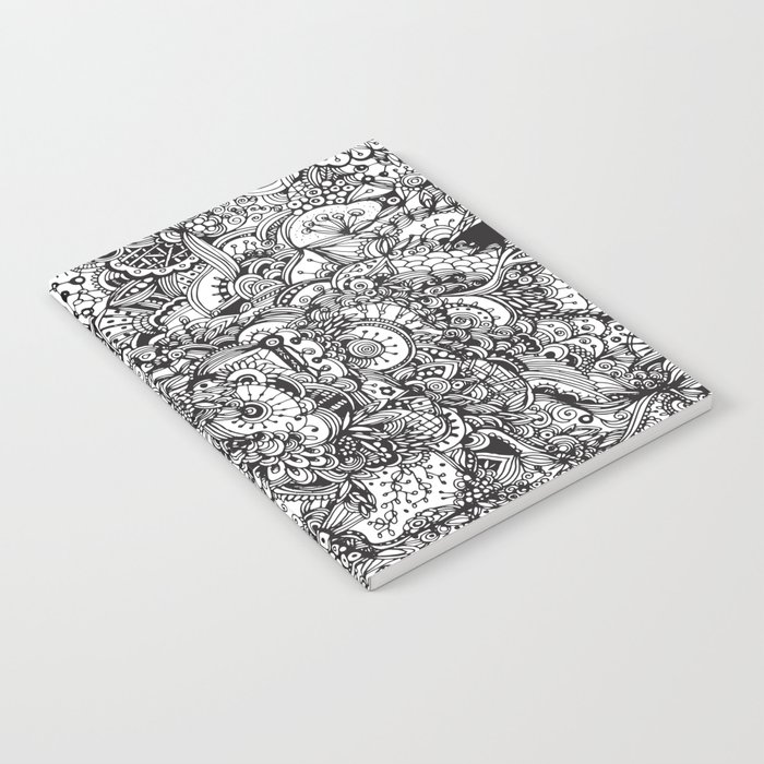 Detailed rectangle, black and white Notebook