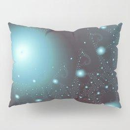 Blue Cosmos Abstract Fractal Art Pillow Sham