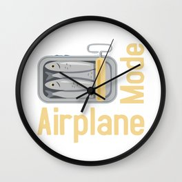 Funny Travel designs for Men and Women - Frequent Flyer Gift Wall Clock