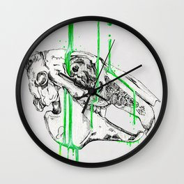N E O N - rabbit Wall Clock