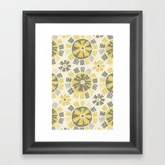 Mod Floral Framed Art Print