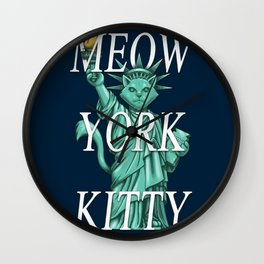 Meow York Kitty Wall Clock