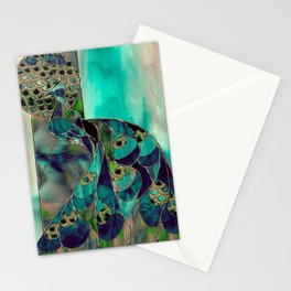Mating Season Stained Glass Stationery Cards