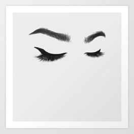 Lashes Art Print