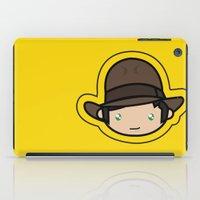 indiana jones iPad Cases featuring Hello Indiana Jones !! Kawaii Cuteness! by Aimee Liwag