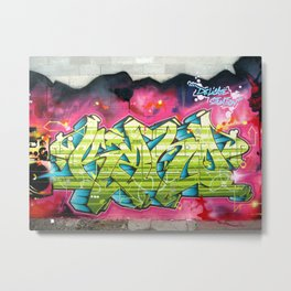 Delicate situation Kane graffiti lettering piece Metal Print