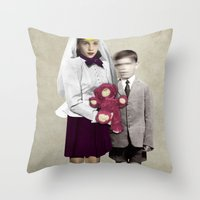 bride Throw Pillows featuring Bride by Momenti Riciclati