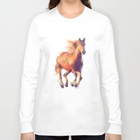 horse Long Sleeve T-shirts featuring Horse // Boundless by Amy Hamilton