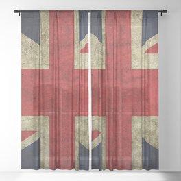Flag of UK Sheer Curtain