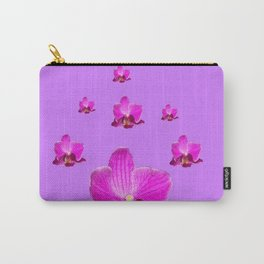 PURPLE ORCHID FLOWERS RAIN YELLOW ART Carry-All Pouch