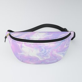 Purple Fantasy Marble Fanny Pack