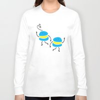 macaron Long Sleeve T-shirts featuring Dancing macaron by Cindys