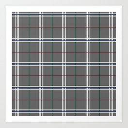 Pewter Plaid Art Print
