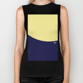COLOUR COUPLES CANARY YELLOW AND BLUE Biker Tank