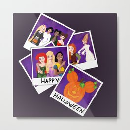 Princess Polaroid Halloween Metal Print