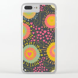 Floral Romantic Pattern 12 Clear iPhone Case
