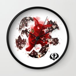 'You Cracked the Egg' Series - Easter Evil Bunny Wall Clock