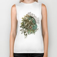 voyage Biker Tanks featuring VOYAGE by TOO MANY GRAPHIX