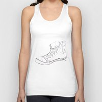 shoe Tank Tops featuring Shoe by Tony Bozanic Art