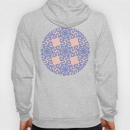 Scribbled Grid Pattern Hoody