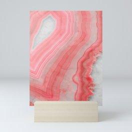 Coral Pink Agate Mini Art Print