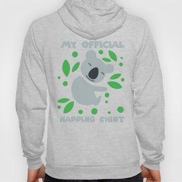 THIS IS MY OFFICIAL NAPPING graphic I Funny Koala Nap Gift design Hoody