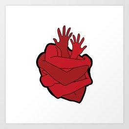 heart myself Art Print