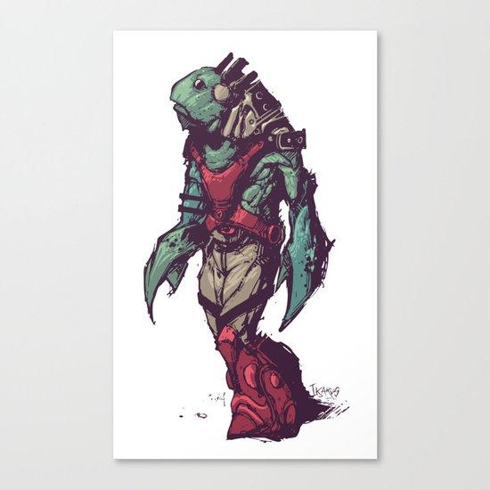 The Fishman Canvas Print