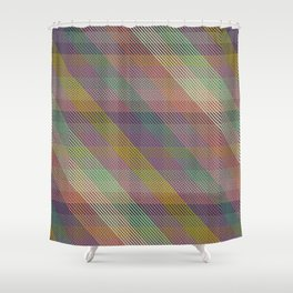 joanne plaid Shower Curtain