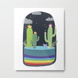 Cactus Nursery Print Metal Print