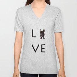 French Bulldog Love Art Print Unisex V-Neck