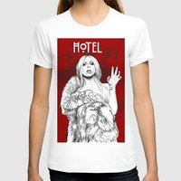 budapest hotel T-shirts featuring Hotel by Fernando Monroy Robles