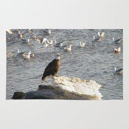 Eagle on Ice Rug