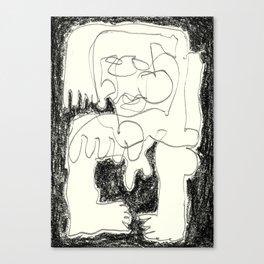 Static Noise Canvas Print