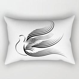Hovering dove  Rectangular Pillow