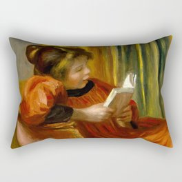 "Auguste Renoir ""Girl reading"" Rectangular Pillow"