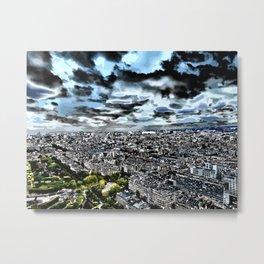 Paris - Blick vom Eiffelturm 1 Metal Print
