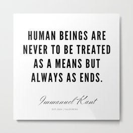 42|  Immanuel Kant Quotes | 190810 Metal Print