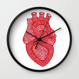 Anatomically Correct Heart Design Wall Clock