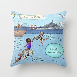 We Can Do Better: Empowering Women Throw Pillow